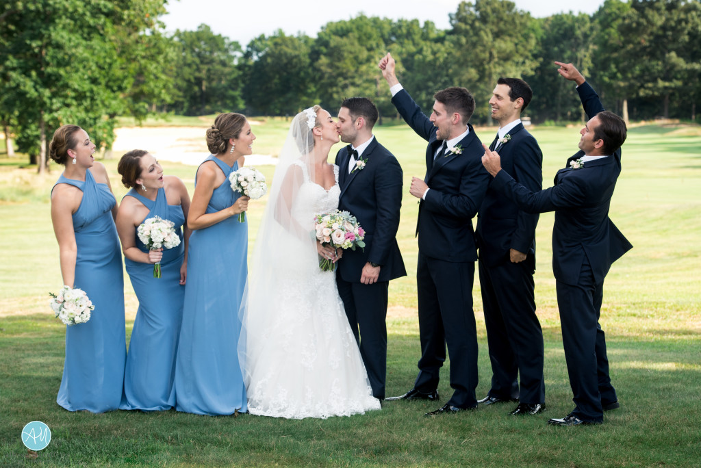 This bridal party was awesome - not only were they a blast, 3 on each side is totally manageable for photographs.